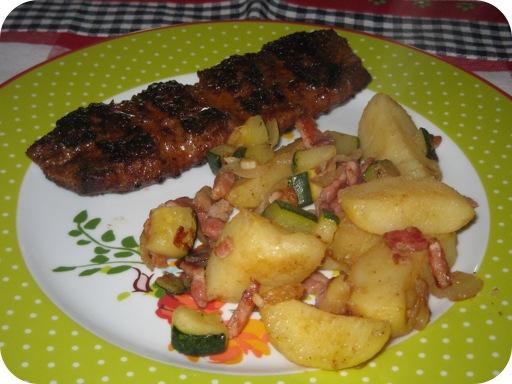Aardappelschotel met Courgette