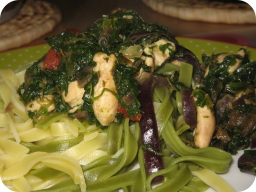 Tagliatelle met Spinazie en Kipfilet