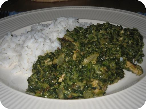 Spinazie met Schnitzel en Sesam