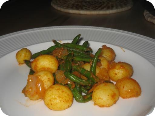 Hot Sperziebonen Curry