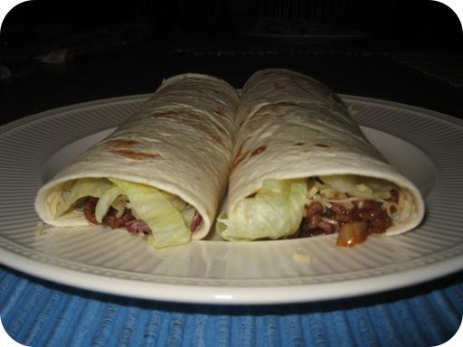 Wrap met Gehakt en Mexicaanse Saus