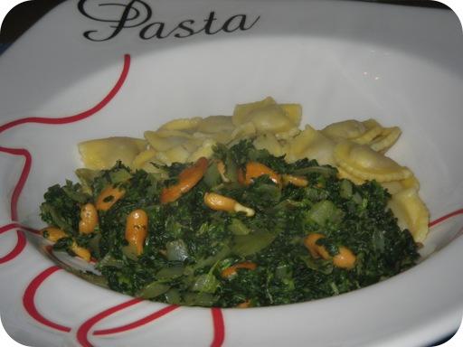 Ravioli met Spinazie en Cashewnoten
