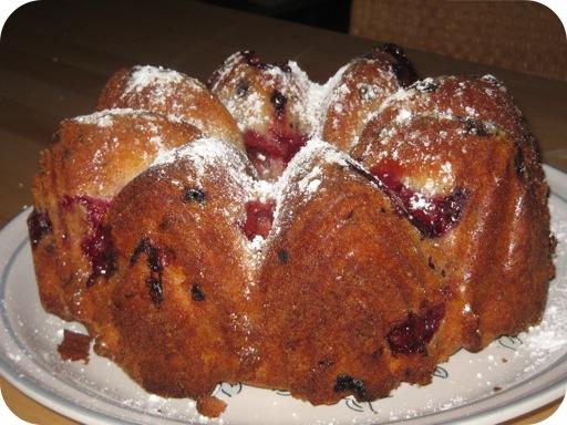 Cake met Zomerfruit