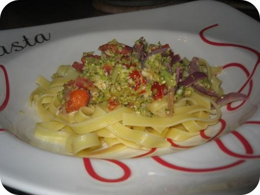 Tagliatelle met Broccoli-Pesto