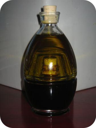balsamico / knoflookolie flesje