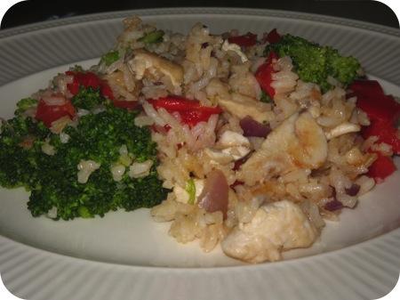 Rijst met Broccoli en Paprika