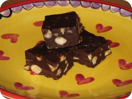chocolade fudge met gemengde noten