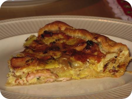 Hartige Taart met Artisjok en Gerookte Kip