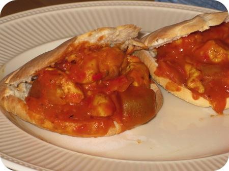 Kip Curry met Pitabroodjes