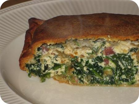 Pizza Calzone met Spinazie