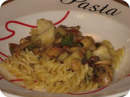 Pasta met Champignons en Pecannoten
