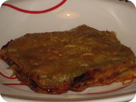 Lasagne met Witte Kool en Champignons