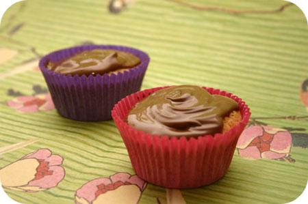 Cupcakes met Hazelnootglazuur