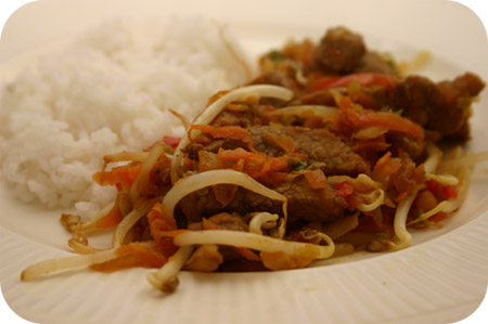 Rijst met Schnitzel, Spitskool en Wortel