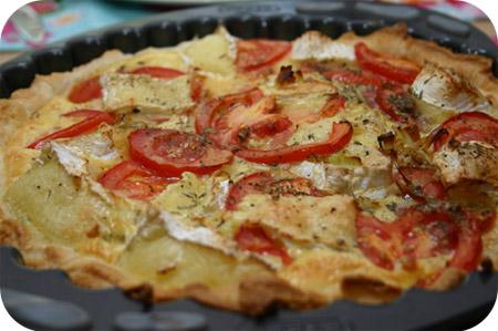 Tomaten Quiche met Camembert