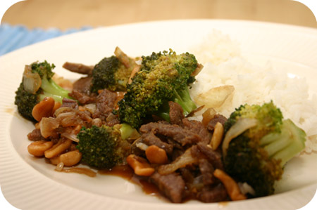 Rijst met Broccoli in Zoete Soyasaus