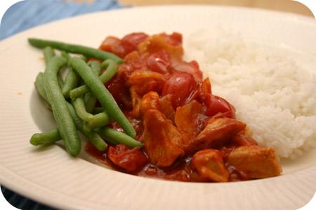 Rijst met Kipfilet en Sperziebonen