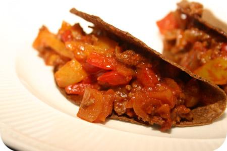Taco's met Paprika en Gehakt