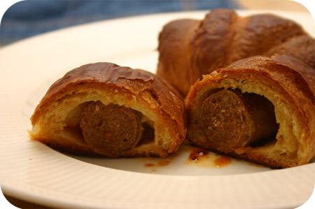 Toscaanse Worstjes in Croissantdeeg