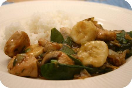 Rijst met Kip, Peultjes en Banaan