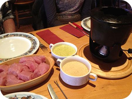 Chalet Gruyère - Menen fondue bressane