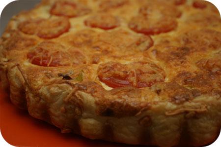 Hartige Taart met Prei, Tomaat en Parmaham