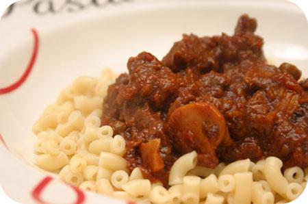 Macaroni Indisch Stoofvlees