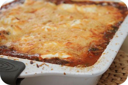Ravioli met Spinazie en Tomatensaus uit de Oven