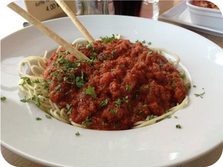 Cho-Ka-Tee in Hasselt spaghetti bolognese