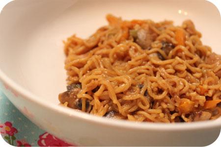 Noodles met Kipfilet en Iki Beer marinade
