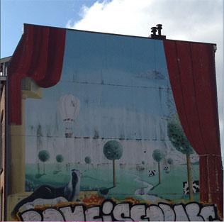 Muurschildering Oudenoord Otterstraat utrecht