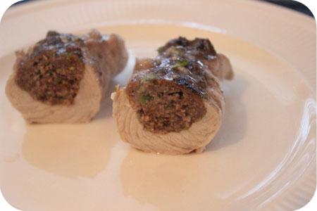 Schnitzel Gevuld met Gehakt en Pistachenootjes