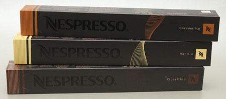nespresso caramelito, ciocattino, vanilio