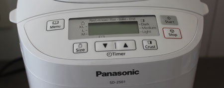 Panasonic Broodbakmachine close-uo sd-2501