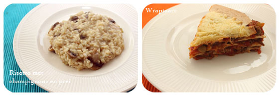 Brutsellog Favourites: Juni 2013 risotto met champignons en prei & wraptaart