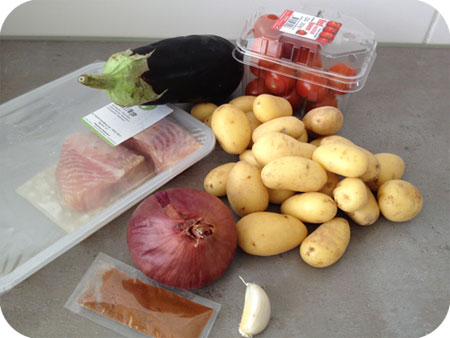 HelloFresh dag 1: Gebakken Meerval met Aardappel-Groentenschotel: De Ingrediënten