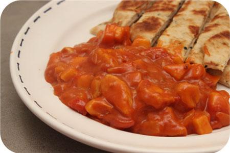 Kip Curry met Naanbrood