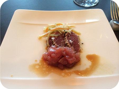 tonijn tataki sesam soja groenten