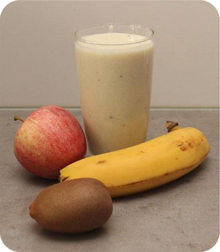 Smoothie met Appel, Banaan en Kiwi