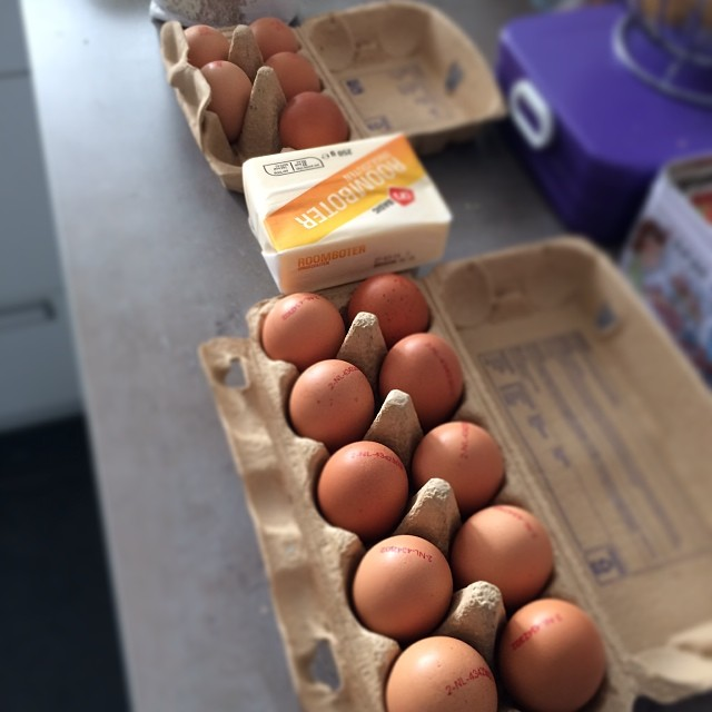 spekkoek veel eieren