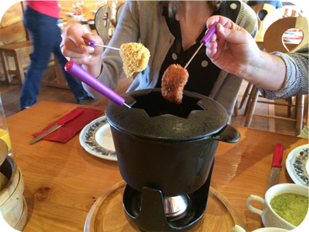 Chalet Gruyère in Menen fondue bressane