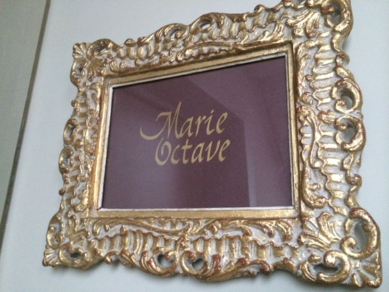 Marie Octave onze kamer