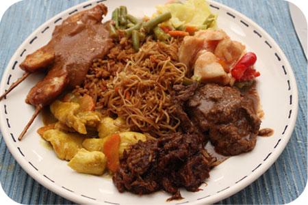 Toko Sin in Driebergen indische rijsttafel