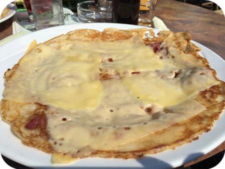 pannenkoek spek kaas De Geulhof in Mechelen