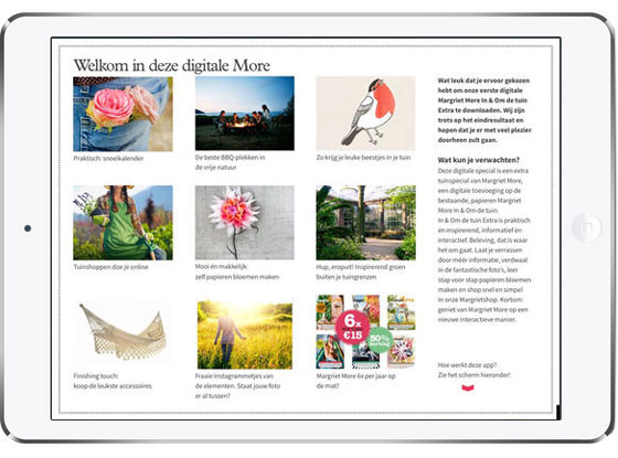 iPad app: Margriet More