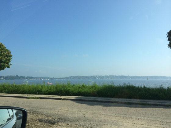 onderweg naar Kolding water