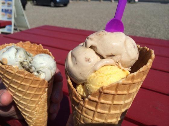 ijsjes skilpadde banaan en karamel en michel dropijs