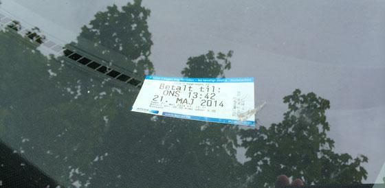parkeerkaartje