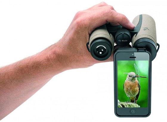 Swarovski iPhone adapters voor Verrekijkers