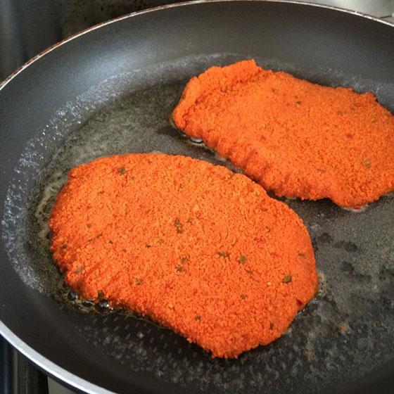oranje schnitzels